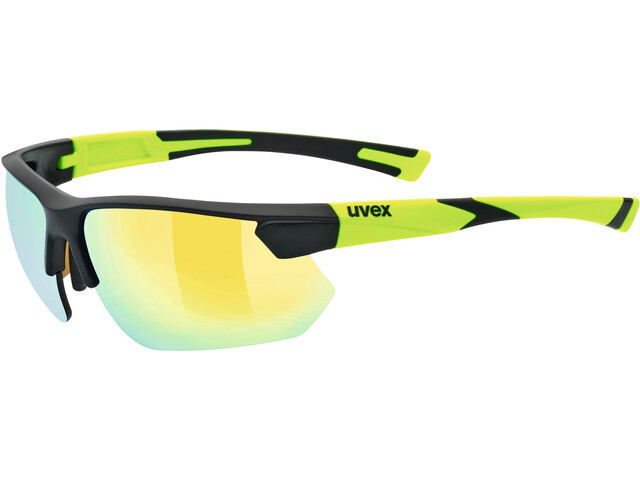 UVEX sportstyle 221 Glasses black mat yellow